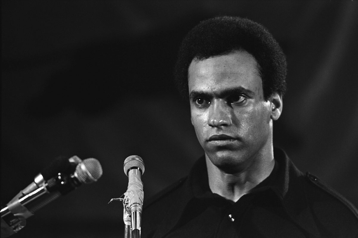"""The Black Panthers Vanguard of the Revolution Huey Newton"" / Photo Courtesy of Stephen Shames"