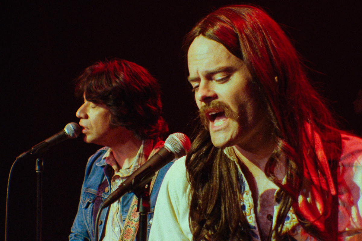 """Fred Armisen and Bill Hader as Gene Allen and Clark Honus in """"Gentle and Soft: The Story of The Blue Jean Committee,"""" a faux music documentary inspired by """"The History of The Eagles"""" / Photo Courtesy of Rhys Thomas"""
