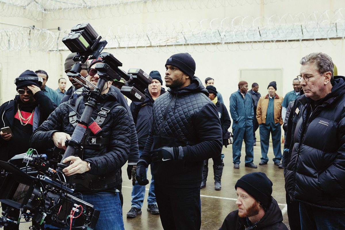 Director Benny Boom (center) on the set of ALL EYEZ ON ME  Photo Credit: Quantrell Colbert