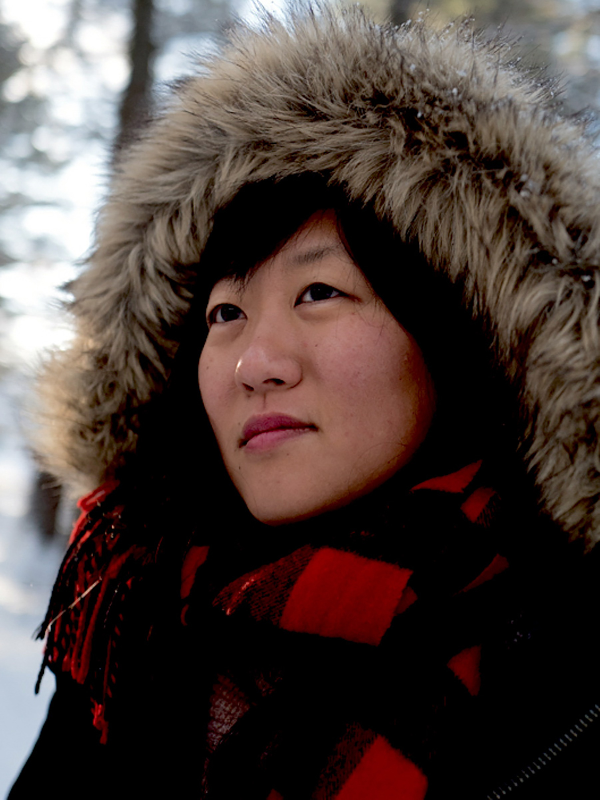 Director Christina Choe on location in upstate New York. Courtesy of Guild DP Zoe White