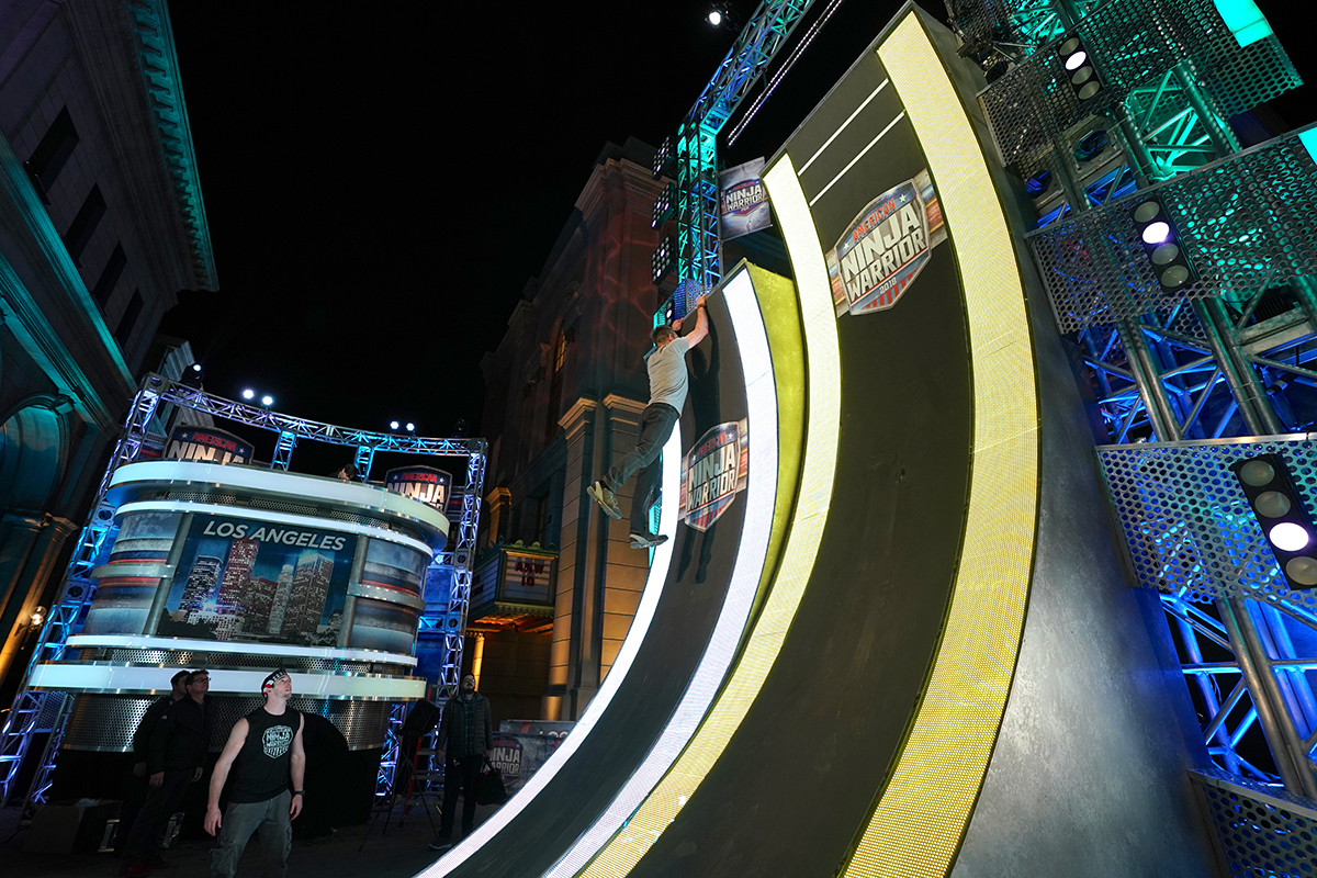"AMERICAN NINJA WARRIOR -- ""Los Angeles Finals"" -- Pictured: Behind-The-Scenes -- (Photo by: Tyler Golden/NBC)"