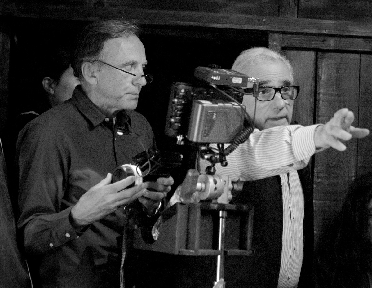Veselic (L) on the set of Silence with Martin Scorsese / Photo by Kerry Brown