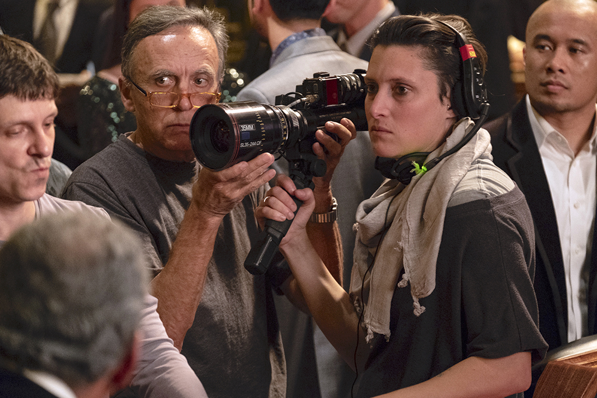Veselic with Rachel Morrison, ASC on Black Panther / Photo by Matt Kennedy