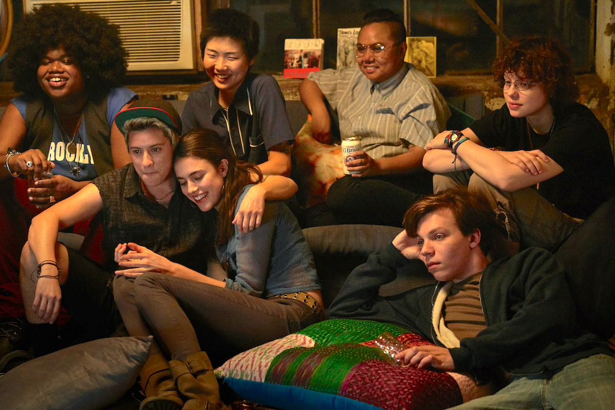 L to R: Nicholas Alexander, Margaret Qualley, Chloe Levine, Maxton Miles Baeza, Jari Jones, May Hong and Paige Gilbert Washington / Courtesy of Meridian Entertainment/ Adam LLC/Sundance Institute