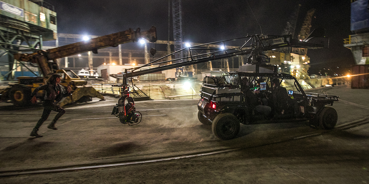 For speed and movement, Chediak relied on the Scorpio crane with Oculus head / Photo by Jaimie Trueblood, SMPSP
