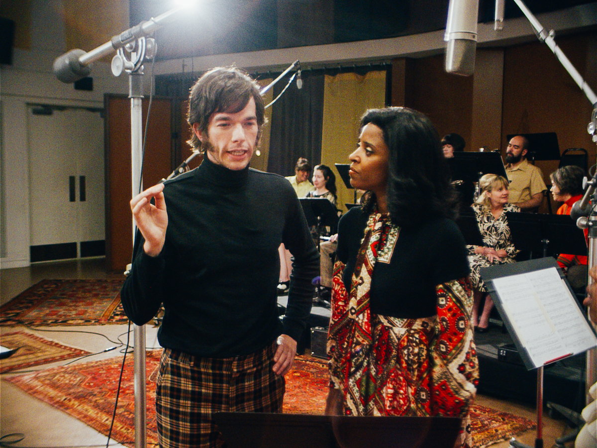 John Mulaney and Renee Elise Goldsberry in Documentary Now, Season 52 Preview / Courtesy Alex Buono / Sundance Institute