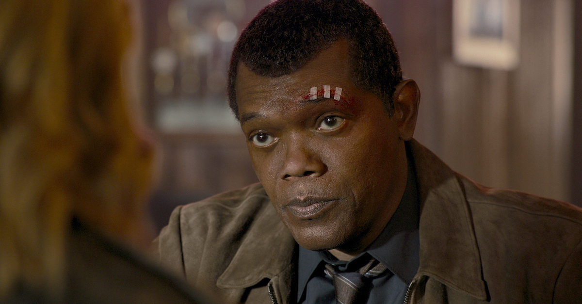 """De-aging S.H.I.E.L.D. team members like Nick Fury (Samuel L. Jackson), required """"painstaking, , frame-by-frame manipulation,"""" according to VFX Supervisor Christopher Townsend."""