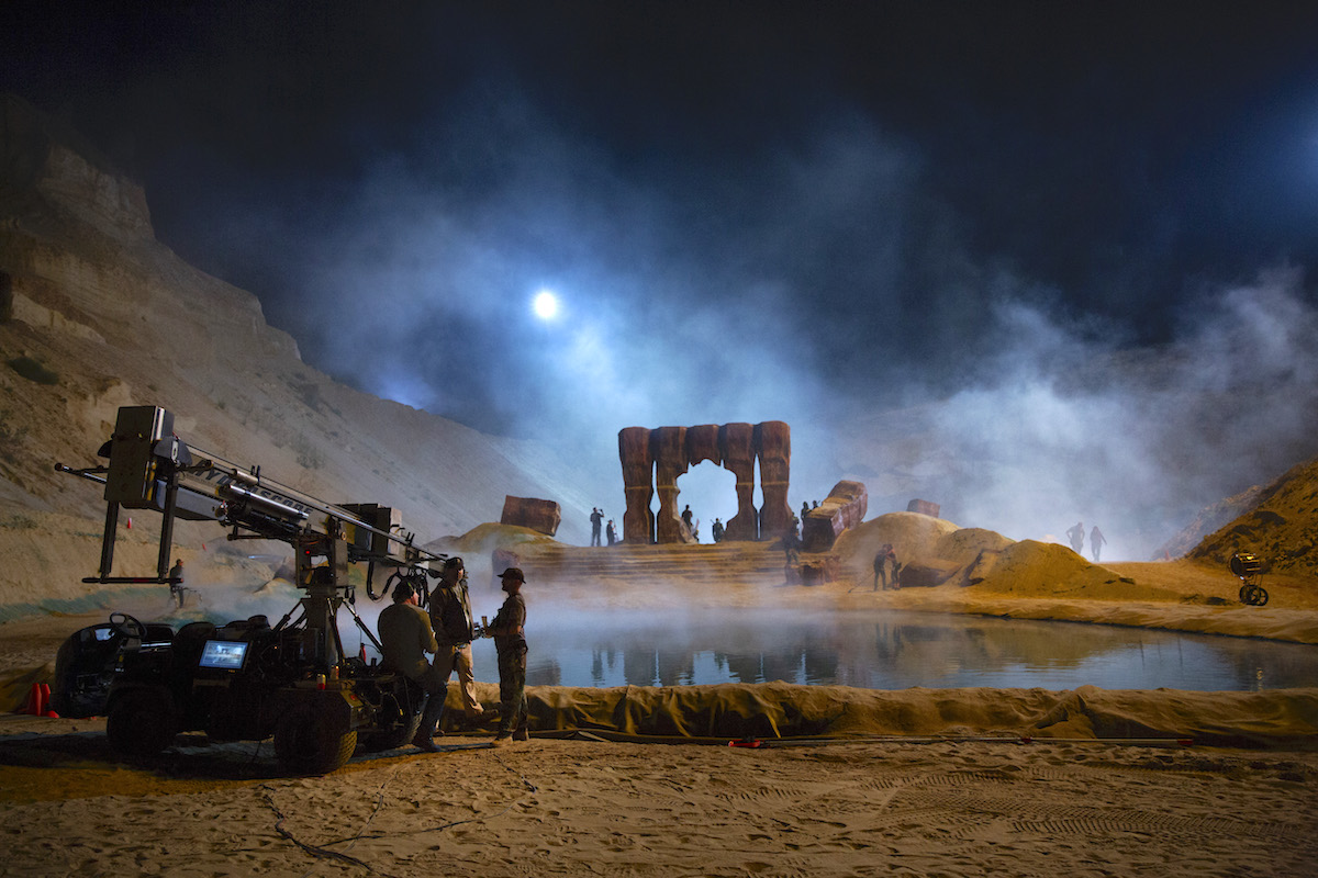 """New planets introduced in Captain Marvel include Torfa, shot at night in a quarry outside L.A., which provided Davis with a """"blank canvas"""" to build a look. / Photo by Chuck Zlotnick"""
