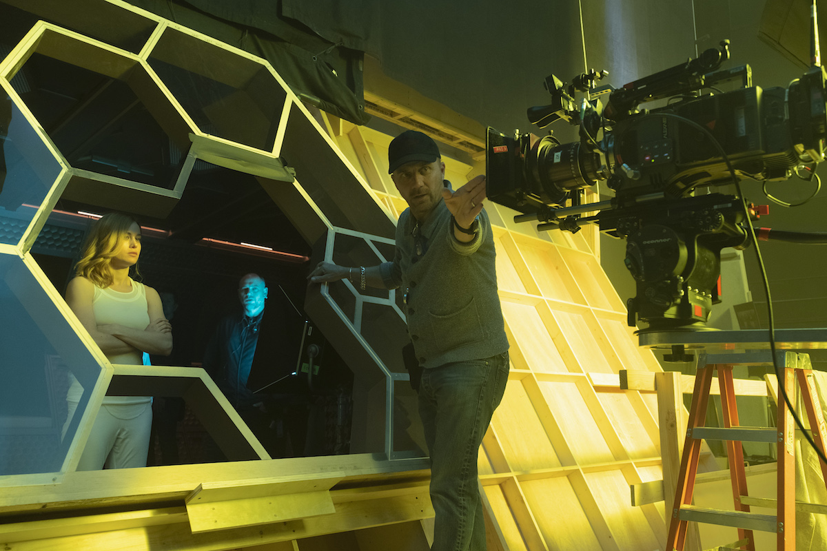 """Cinematographer Ben Davis, BSC, (R) says he works closely with the VFX supervisor and production designer for """"conceptualization of VFX integration"""" on-set Photo: Chuck Zlotnick"""