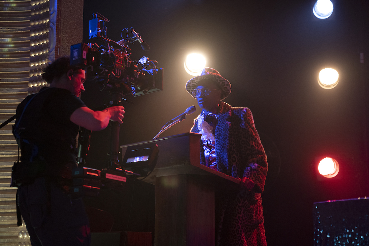 """Season 2 A-camera 1st AC Damon LeMay says one defining visual element for Pose are close-ups shot with wide lenses. """"A 27 millimeter is common,"""" he states. """"And we're often less than four feet from the actors."""" / Photo by Macall Polay/FX"""
