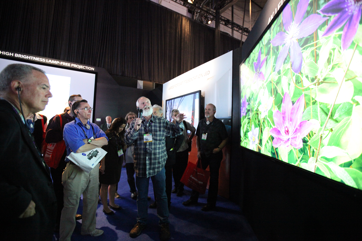 Andy Romanoff leading attendees through Sony's Ultra-HD Display for ICG's Capture/Acquisition Tour