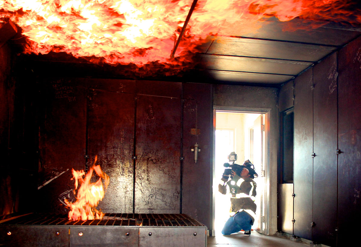 Fire Training for Local 600 Shop Steward Terry Haggart on Good Day Sacramento (KMAX CW31) / Courtesy of Terry Haggart