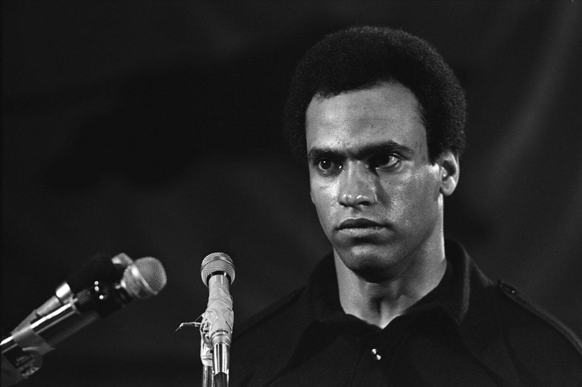 """The Black Panthers Vanguard of the Revolution Huey Newton"" / Photo Courtesy of Stephen Shames"