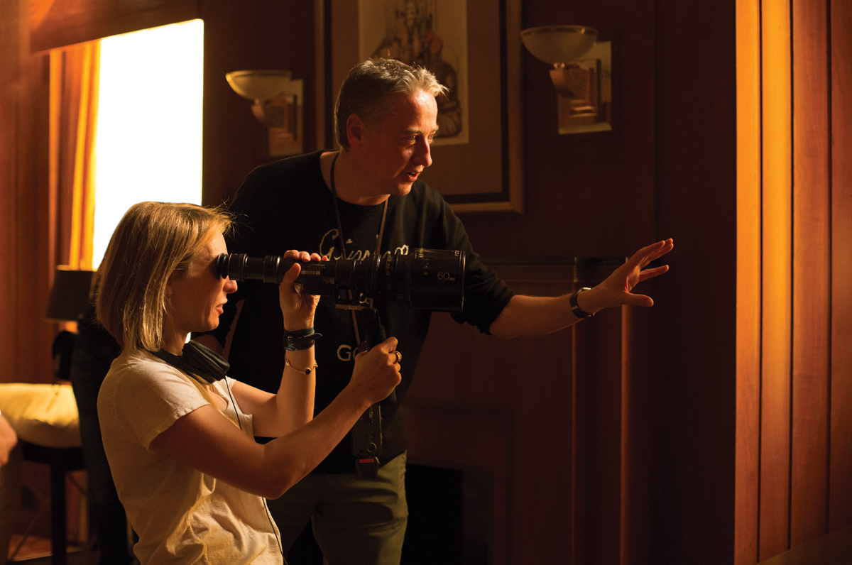 Director Sam Taylor-Johnson (L) with Seamus McGarvey (R)