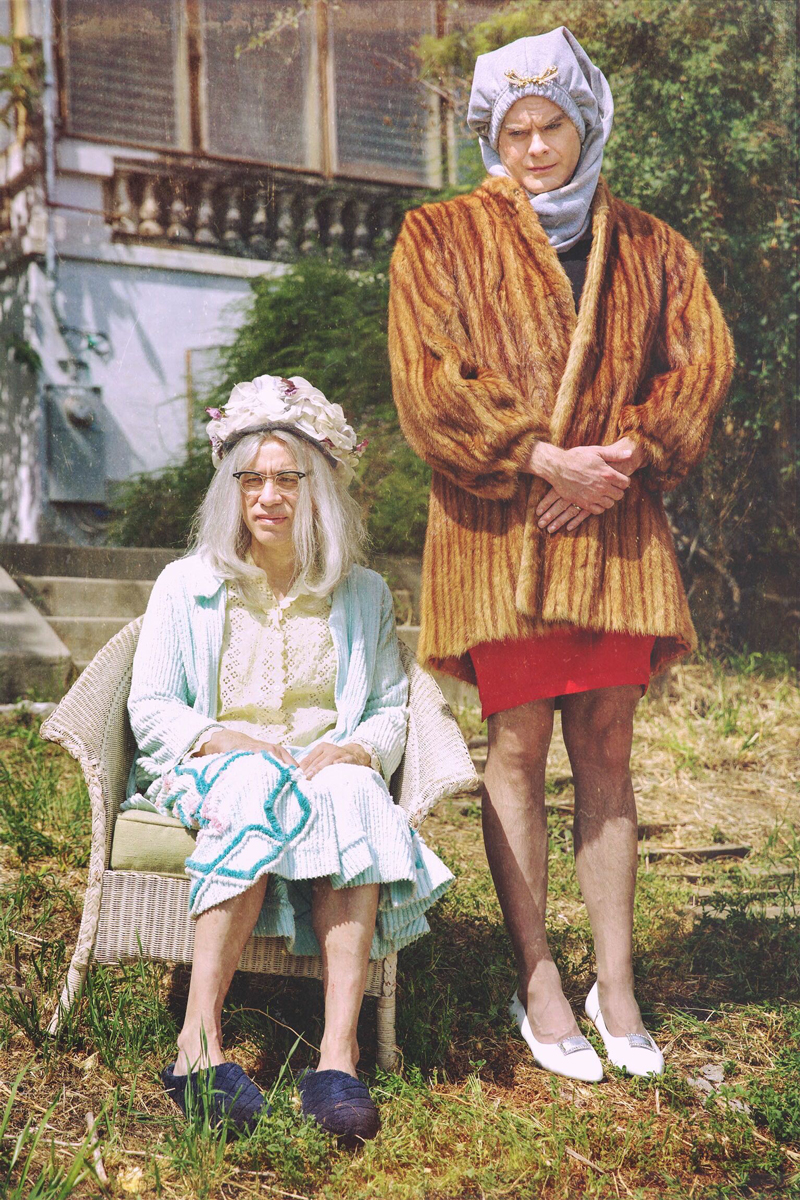 """Fred Armisen and Bill Hader as """"Big Vivvy"""" and """"Little Vivvy,"""" in """"Sandy Passage,"""" a send-up of The Maysles Brothers' Grey Gardens / Photo Courtesy of Tyler Golden/IFC"""