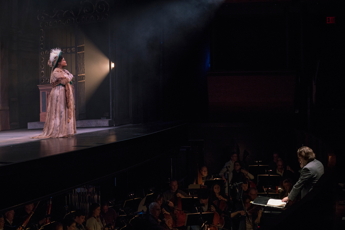 Dress rehearsal for Tosca at the New York City Opera, performed at the Rose Theater at Jazz at Lincoln Center / Photo by Sarah Shatz taken with Sony A7s/ Sony FE28mm F2 lens / ISO 2500