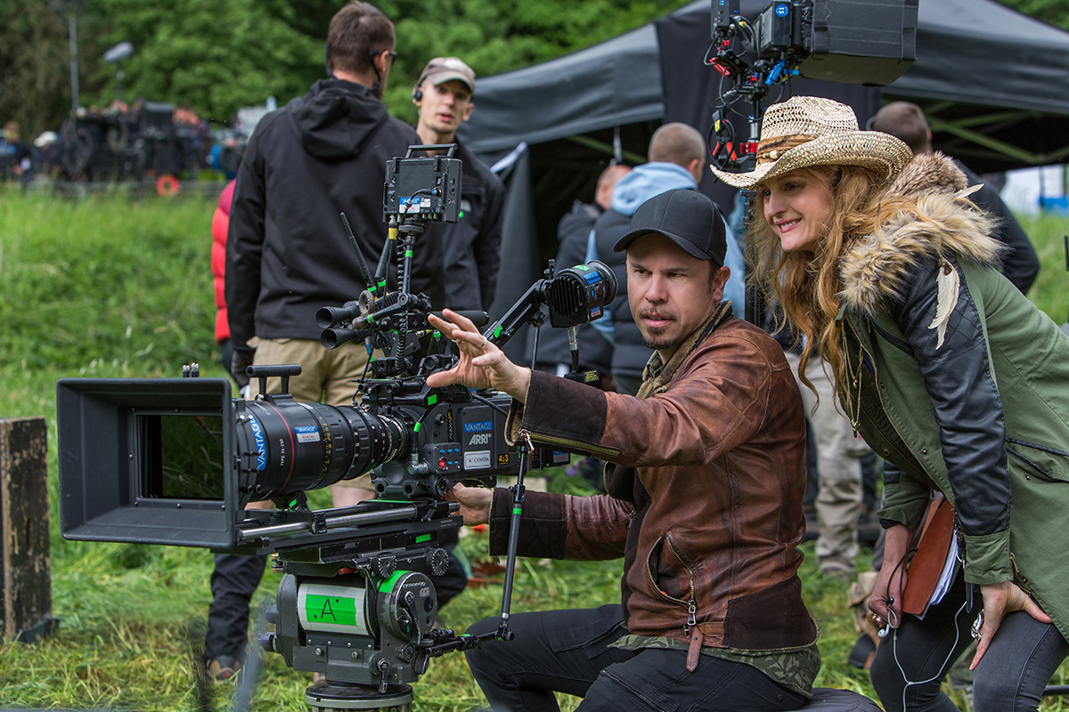 DP Denson Baker with director Claire McCarthy on location in the Czech Republic. Courtesy of Dusan Martincek