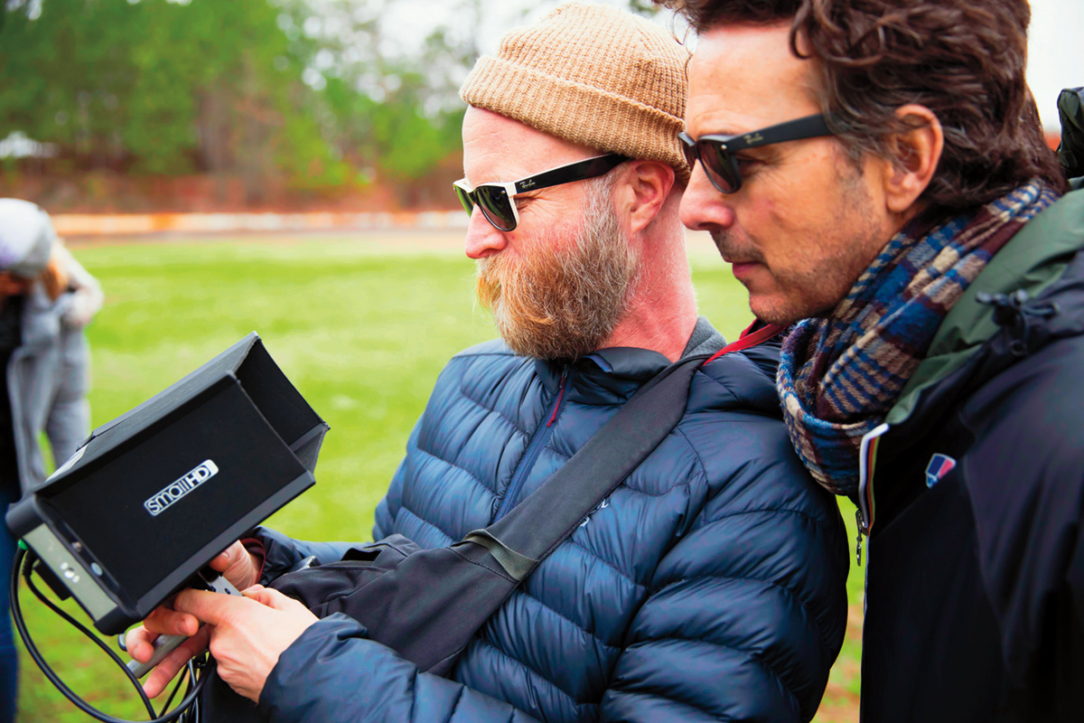 DP Tod Campbell lines up a frame for one of his four episodes directed by Producer Shawn Levy