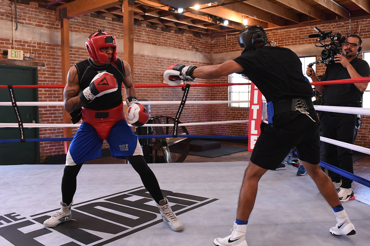 Operator Art Pena captures a sparring session / Photo-by Ray Mickshaw/EPIX