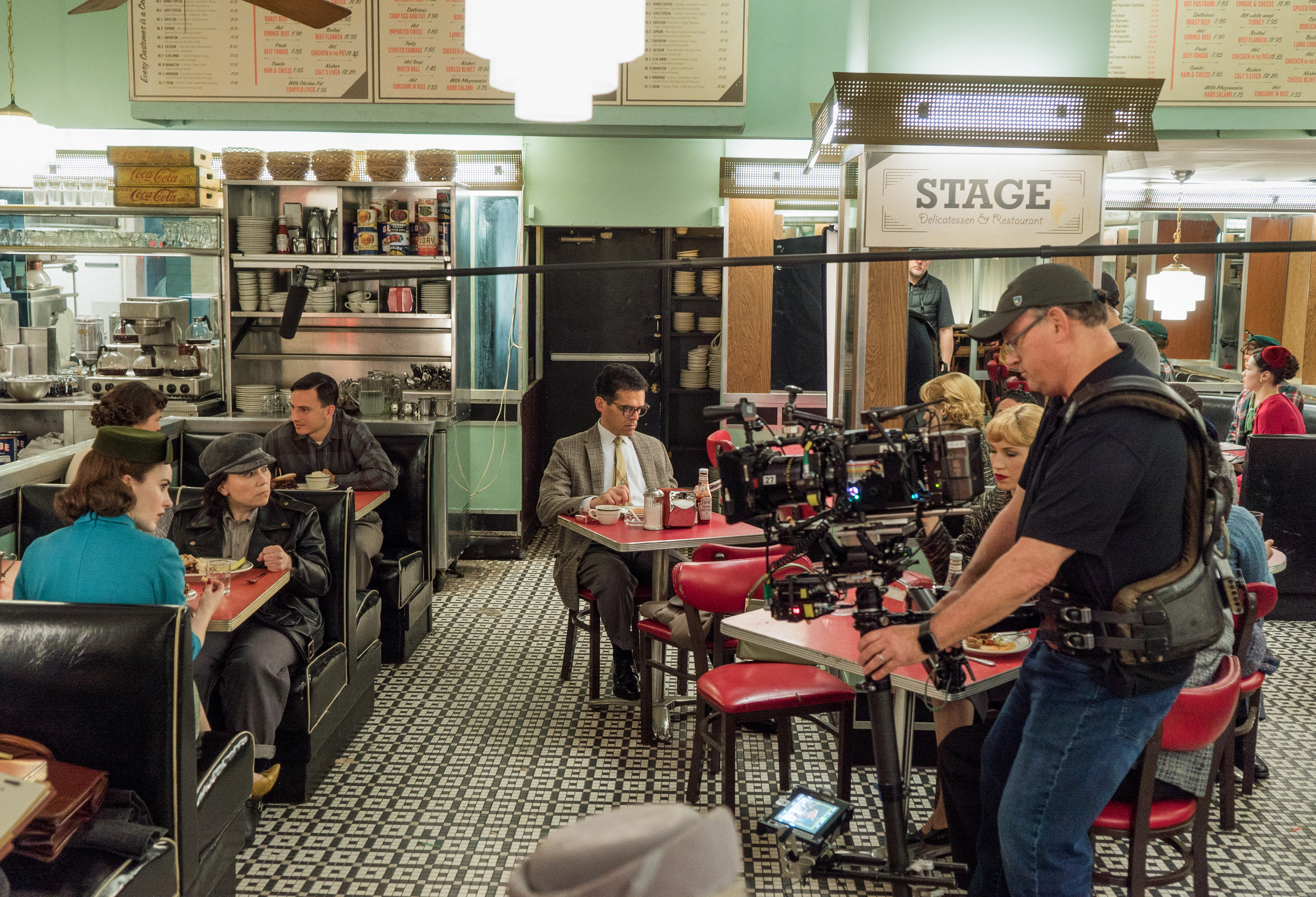"""Eric Moynier says he and co-DP David Mullen, ASC, """"never compromise the look of the show with a second camera."""" Operator Jim McKonkey on location in N.Y.C. / Photo by Nicole Rivelli"""