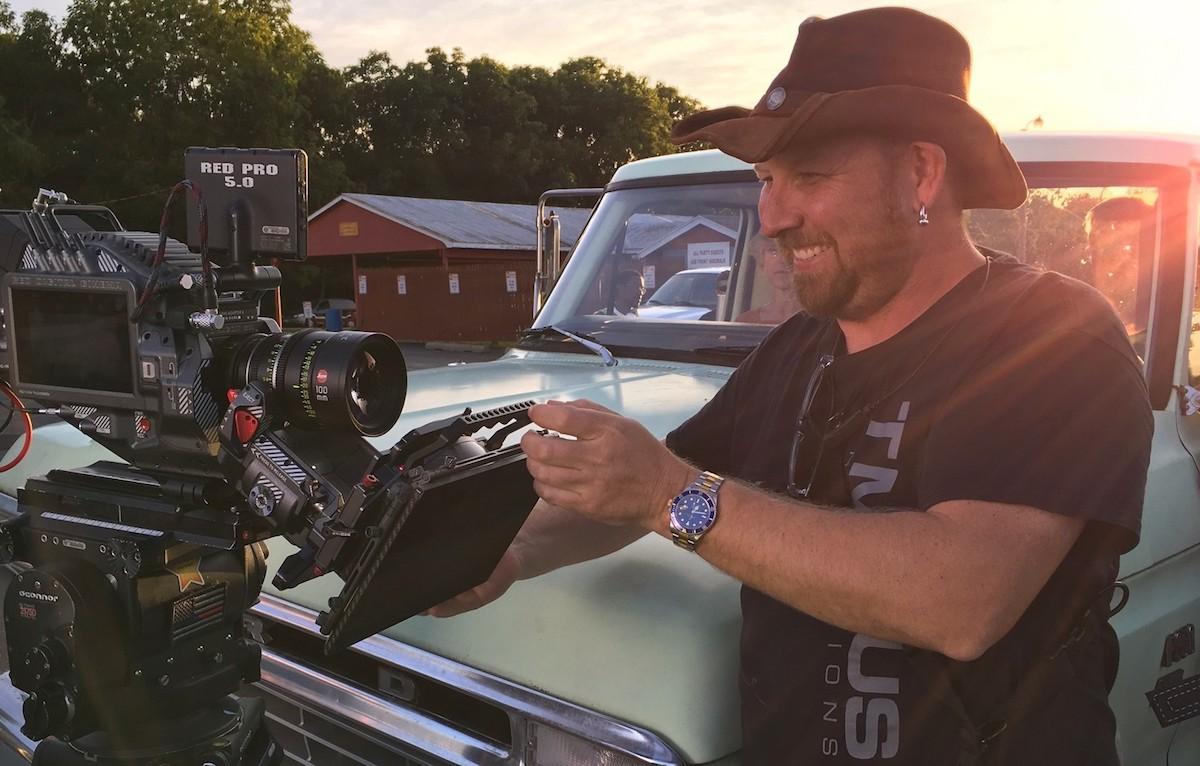 First AC Tom Funk on location for Noble Jones' film / Courtesy of Mark Davis
